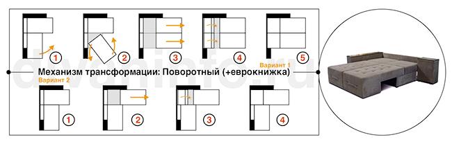 Диван поворотный в Москве с доставкой